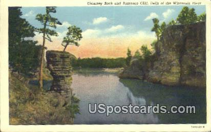 Chimney Rock, Romance Cliff - Dells Of The Wisconsin River Postcards, Wisconsin WI Postcard