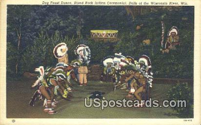 Stand Rock Indian Ceremonial - Dells Of The Wisconsin River Postcards, Wisconsin WI Postcard