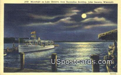 Lake Genvera - Lake Geneva, Wisconsin WI Postcard