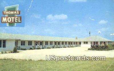 Thomas Motel - Elkhorn, Wisconsin WI Postcard