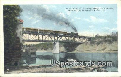 CM & St P Railway Bridge - Kilbourn, Wisconsin WI Postcard