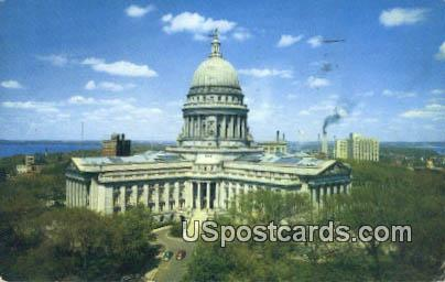 State Capitol - Madison, Wisconsin WI Postcard