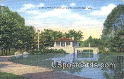 Humboldt Park - MIlwaukee, Wisconsin WI Postcard