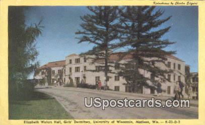 Girl's Dormitory, University of Wisconsin - Madison Postcard
