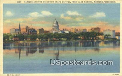 Madison & the Wisconsin State Capitol Postcard