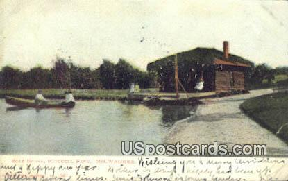 Boat House, Mitchell Park - MIlwaukee, Wisconsin WI Postcard