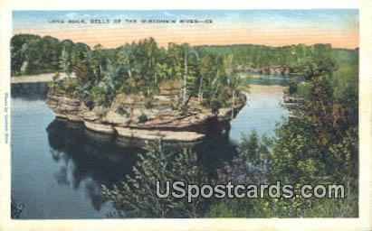 Lone Rock - Dells Of The Wisconsin River Postcards, Wisconsin WI Postcard
