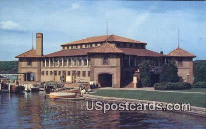 Riviera From Bridge - Lake Geneva, Wisconsin WI Postcard