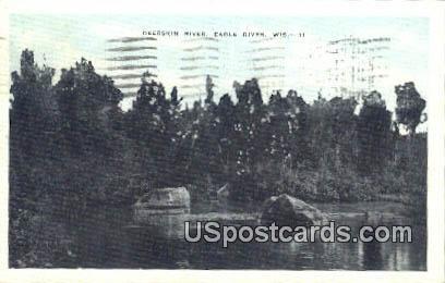 Deerskin River - Eagle River, Wisconsin WI Postcard
