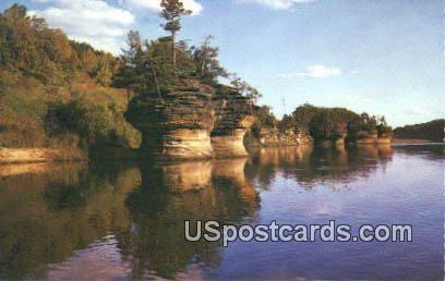 Sugar Bowl - Grotto Rock, Wisconsin WI Postcard