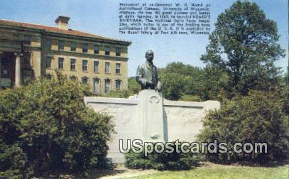 Monument of Ex-Governor WD Hoard - Madison, Wisconsin WI Postcard