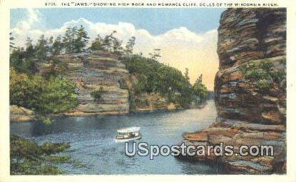 Jaws, Romance Cliff - Dells Of The Wisconsin River Postcards, Wisconsin WI Postcard