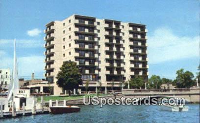 Geneva Towers Sundominium - Lake Geneva, Wisconsin WI Postcard