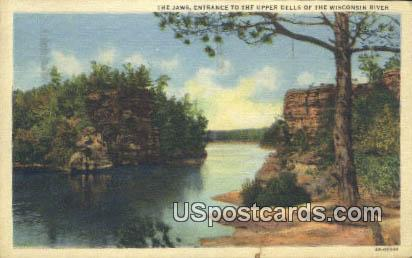 Jaws - Upper Dells of the Wisconsin River Postcards, Wisconsin WI Postcard
