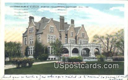 Oshkosh Public Museum, Sawyer Foundation - Wisconsin WI Postcard
