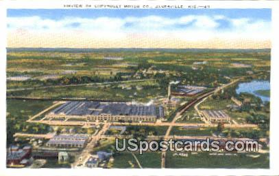 Chevrolet Motor Co - Janesville, Wisconsin WI Postcard