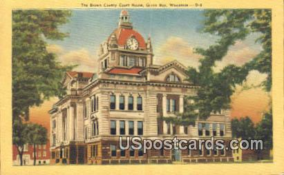 Brown County Court House - Green Bay, Wisconsin WI Postcard