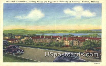 Adams & Tripp Halls, University of Wisconsin - Madison Postcard