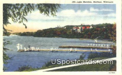 Lake Mendota - Madison, Wisconsin WI Postcard