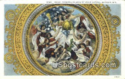 Mural Painting, State Capitol - Madison, Wisconsin WI Postcard