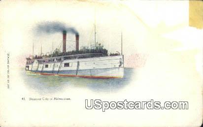Steamer City - MIlwaukee, Wisconsin WI Postcard