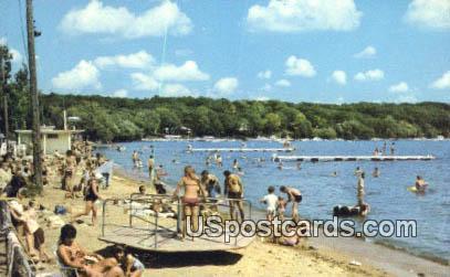 Beach - Williams Bay, Wisconsin WI Postcard