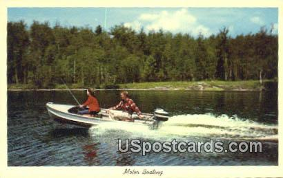 Motor Boating - Misc, Wisconsin WI Postcard