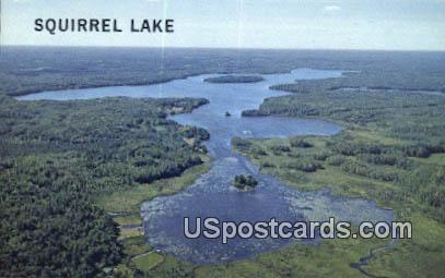 Squirrel Lake, WI Postcard      ;      Squirrel Lake, Wisconsin