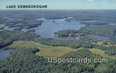 Lake Kewasokogan - Minocqua, Wisconsin WI Postcard