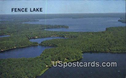 Fence Lake, WI Postcard      ;      Fence Lake, Wisconsin