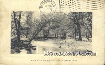 Mount Horeb, Wis Postcard      ;      Mount Horeb, Wisconsin
