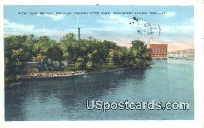 Bridge, Consolidated Park - Wisconsin Rapids Postcards, Wisconsin WI Postcard