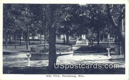City Park - Reedsburg, Wisconsin WI Postcard
