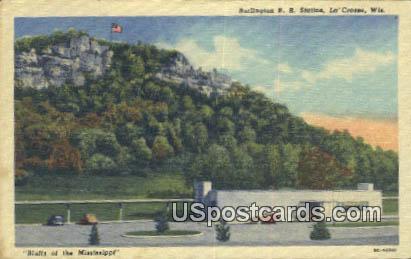Burlington RR Station - La Crosse, Wisconsin WI Postcard