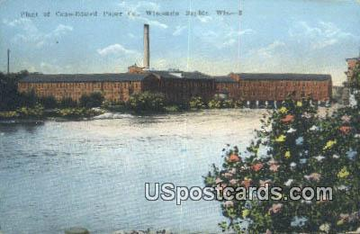 Plant of Consolidated Paper Co - Wisconsin Rapids Postcards, Wisconsin WI Postcard