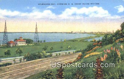 US Coast Guard Station - Milwaukee Bay, Wisconsin WI Postcard
