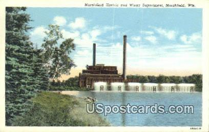 Marshfield Electric & Water Department - Wisconsin WI Postcard