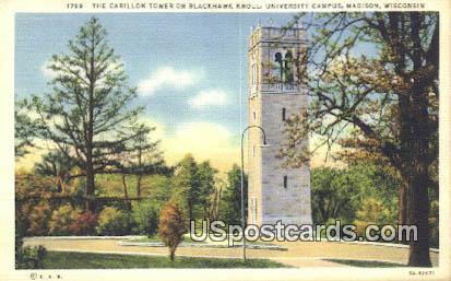 Blackhawk Knoll, University Campus - Madison, Wisconsin WI Postcard