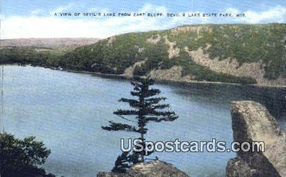 Devil's Lake, East Bluff - Devil's Lake State Park, Wisconsin WI Postcard