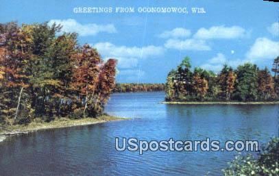 Oconomowoc, Wisconsin Postcard      ;      Oconomowoc, WI