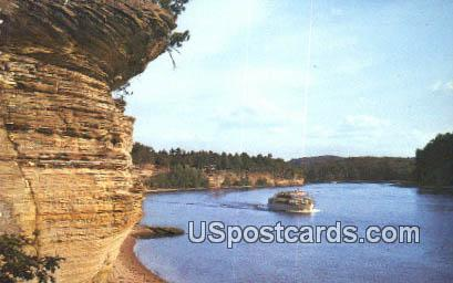 Golden Riverbank - Lower Dells of the Wisconsin River Postcards, Wisconsin WI Postcard