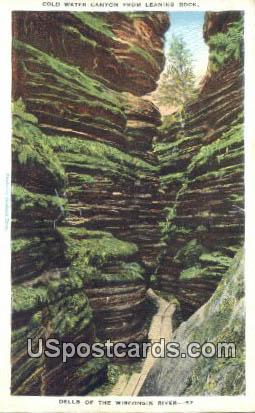 Cold Water Canyon - Dells Of The Wisconsin River Postcards, Wisconsin WI Postcard