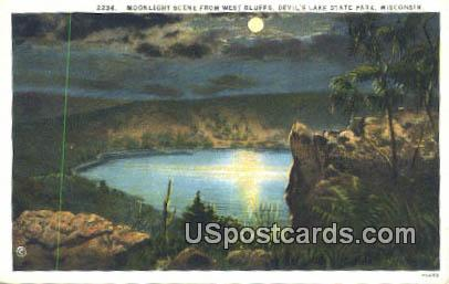 West Bluffs - Devil's Lake State Park, Wisconsin WI Postcard