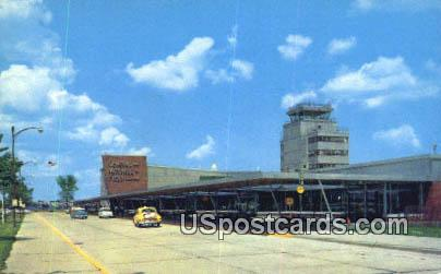 General Mitchell Field Air Terminal - MIlwaukee, Wisconsin WI Postcard