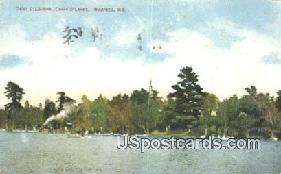 Camp Cleghorn, Chain O'Lakes - Waupaca, Wisconsin WI Postcard
