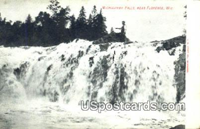 Michigamme Falls - Florence, Wisconsin WI Postcard