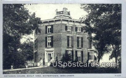 Octagon House, 1852 - Watertown, Wisconsin WI Postcard