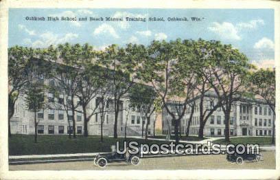 Oshkosh High School - Wisconsin WI Postcard
