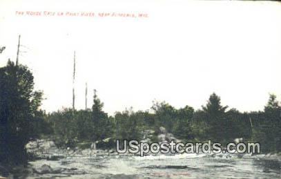Horse Race, Paint River - Florence, Wisconsin WI Postcard