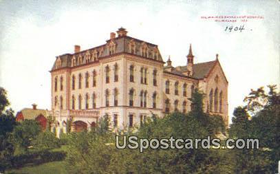 Milwaukee Passavant Hospital - Wisconsin WI Postcard